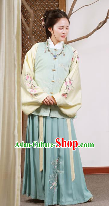 Chinese Traditional Ming Dynasty Nobility Lady Embroidered Costume for Women