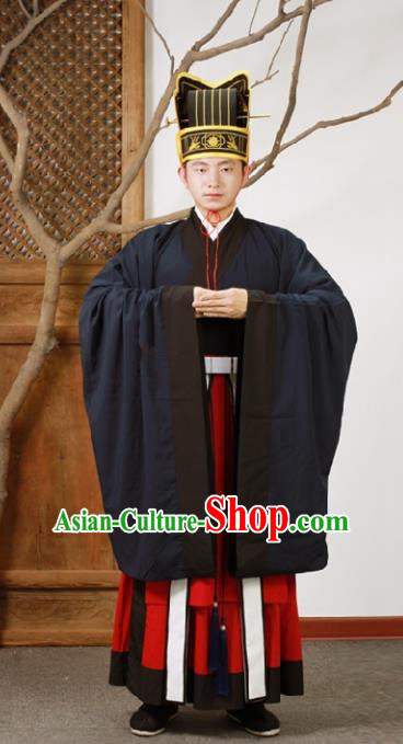 Chinese Ancient Ming Dynasty Prime Minister Hanfu Clothing for Men
