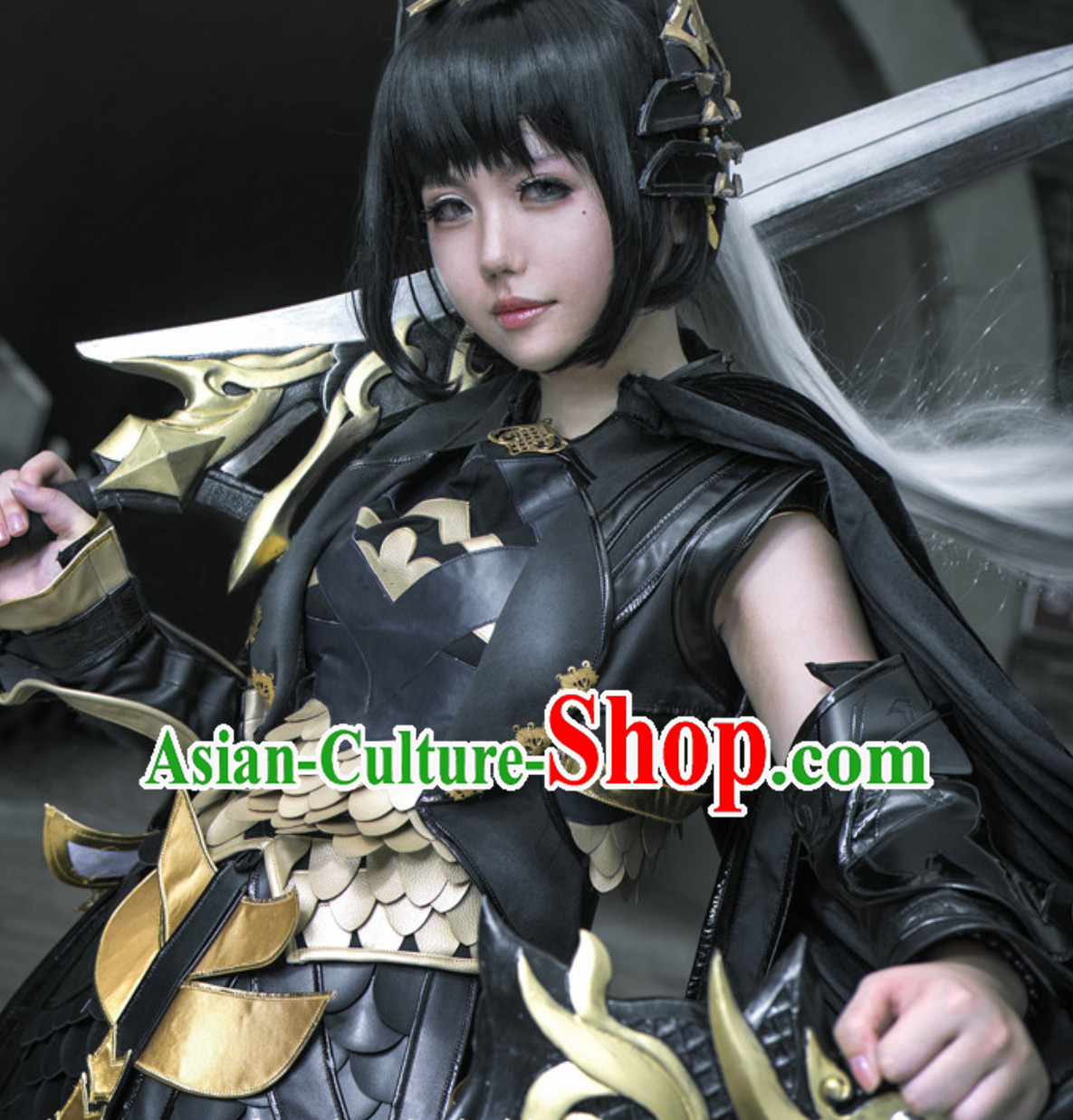 Asian Warrior Chinese Japanese Style Sexy Superhero Costume