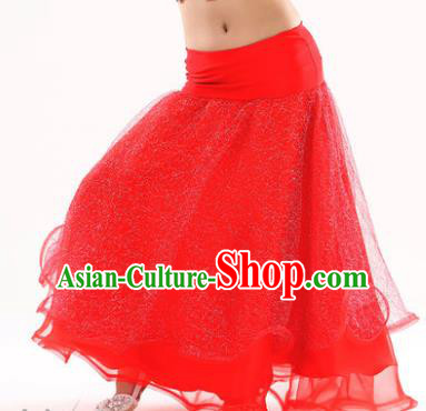 Indian Traditional Belly Dance Performance Costume Red Skirt Classical Oriental Dance Clothing for Kids