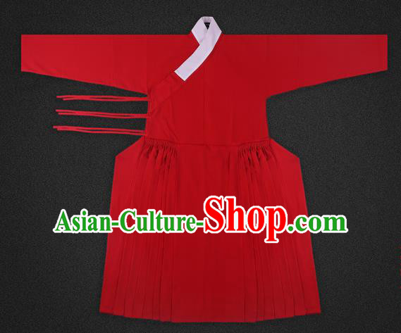 Chinese Ancient Ming Dynasty Imperialbodyguard Costume Red Robe Swordsman Hanfu Clothing for Men