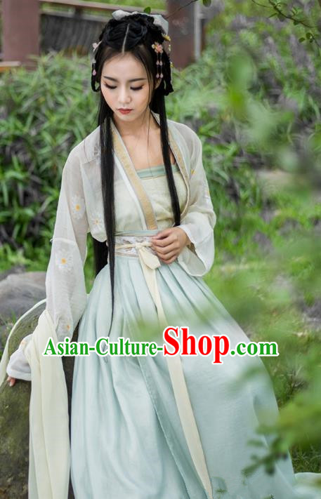 Traditional Chinese Tang Dynasty Palace Lady Costumes Ancient Princess Dress Clothing for Women