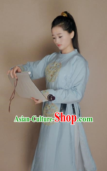 Traditional Chinese Tang Dynasty Imperial Bodyguard Swordsman Embroidered Costume for Women
