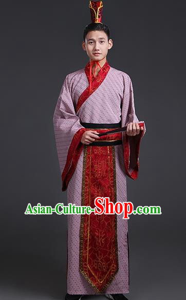 Chinese Ancient Han Dynasty Royal Prince Costume Theatre Performances Swordsman Clothing for Men
