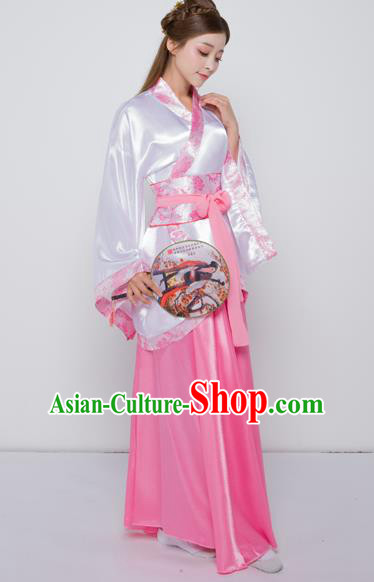 Chinese Ancient Han Dynasty Palace Lady Costume Theatre Performances Princess Dress for Women