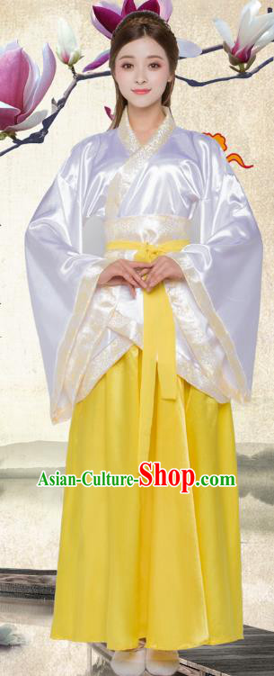 China Han Dynasty Palace Lady Hanfu Dress Theatre Performances Princess Costume for Women