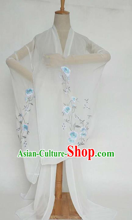 China Tang Dynasty Palace Lady Costume Ancient Princess Embroidered Peony Cardigan for Women