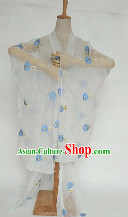 China Tang Dynasty Palace Lady Costume Ancient Princess Embroidered Jasmine Flower Cardigan for Women