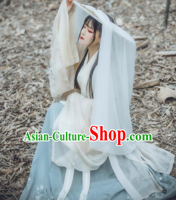 Ancient China Ming Dynasty Palace Lady Embroidered Dress Costume Complete Set for Women