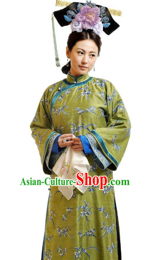 Chinese Qing Dynasty Princess Consort of Yinsi Ruolan Historical Costume Ancient Manchu Palace Lady Clothing for Women