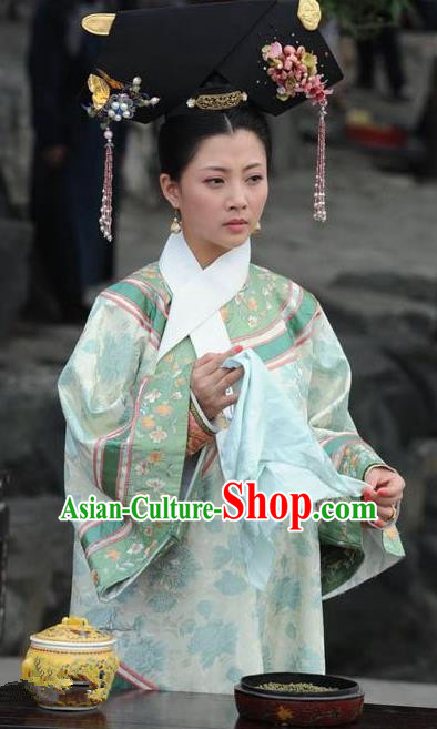 Chinese Qing Dynasty Empress Dowager Historical Costume Ancient Manchu Lady Clothing for Women