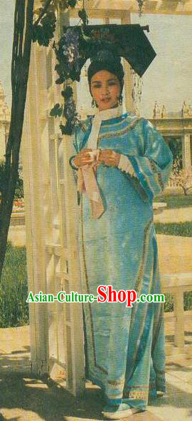Chinese Ancient Qing Dynasty Young Empress Dowager Cixi Manchu Dress Historical Costume for Women