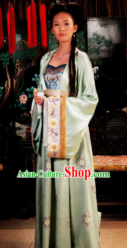 Chinese Ancient Novel Dream of the Red Chamber Second Sister You Costume for Women