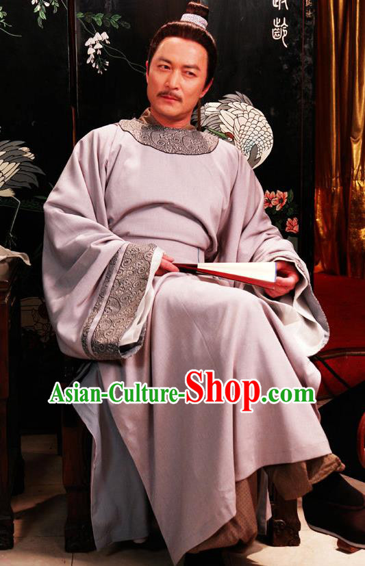 Chinese Ancient Novel Dream of the Red Chamber Aristocratic Master Jia Zhen Costume for Men