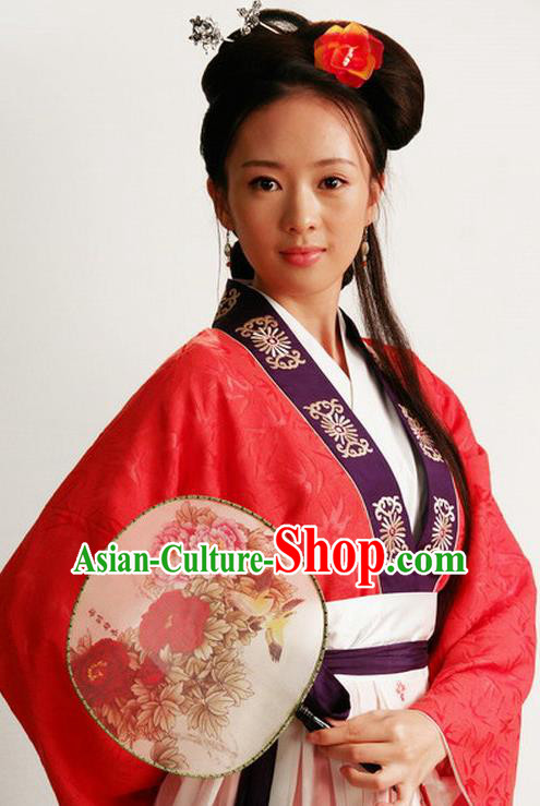Chinese Ancient Novel Dream of the Red Chamber Young Lady Second Sister You Costume