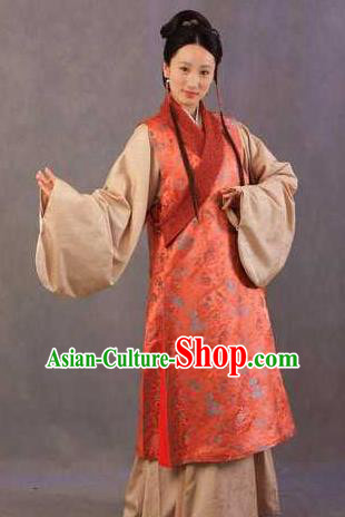 Chinese Ancient Novel Character A Dream in Red Mansions Maidservants Xiren Costume for Women