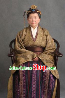 Chinese Ancient A Dream in Red Mansions Character Old Gentleman Jia Costume for Women