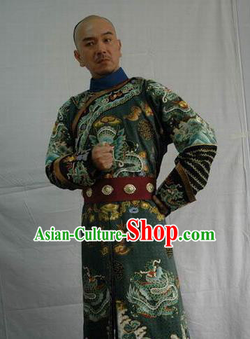 Chinese Ancient Qing Dynasty Captain General Sun Yanling Costume for Men