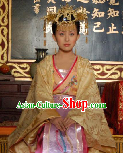 Chinese Ancient Queen Costume Ming Dynasty Palace Lady Empress Embroidered Dress for Women