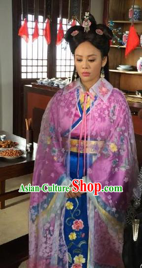 Ancient Chinese Ming Dynasty Imperial Consort of Zhu Di Embroidered Dress Replica Costume for Women