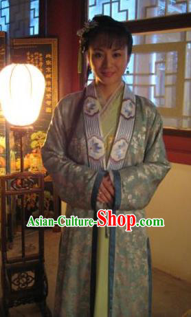Chinese Ancient Novel A Dream in Red Mansions Character Third Sister You Costume for Women