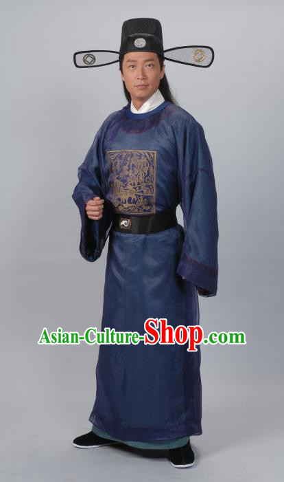 Traditional Chinese Ming Dynasty Ancient County Magistrate Costume for Men