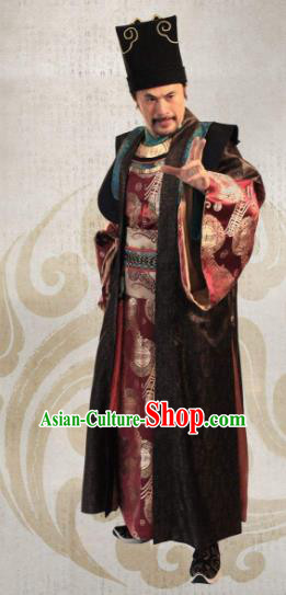 Traditional Chinese Ancient Ming Dynasty Ning Prince Zhu Quan Costume for Men