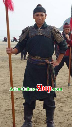 Traditional Chinese Ancient Ming Dynasty Invasions General Qi Jiguang Costume for Men