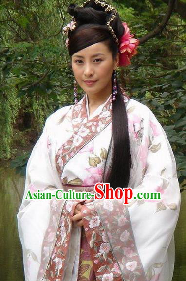 Chinese Ancient Ming Dynasty Nobility Lady Embroidered Dress Costume for Women