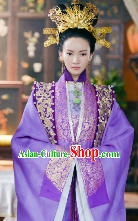 Chinese Ancient Ming Dynasty Palace Queen Embroidered Dress Costume for Women
