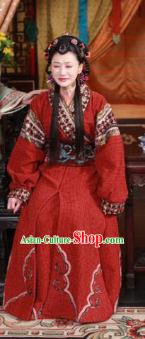 Chinese Ancient Ming Dynasty Imperial Consort of Zhu Youxiao Embroidered Historical Costume for Women