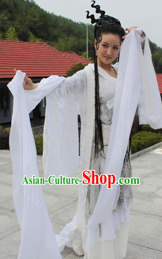 Chinese Ancient Ming Dynasty Dance Dress Fairy Embroidered Historical Costume for Women