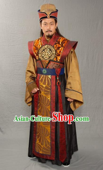 Ancient Chinese Ming Dynasty National Academy Prime Minister Embroidered Costume for Men