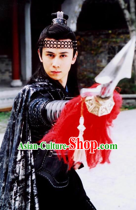 Chinese Ancient Song Dynasty General Yang Yansi Replica Costume for Men