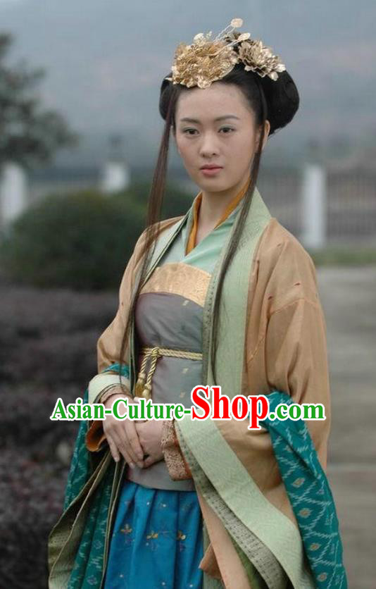 Ancient Chinese Song Dynasty Palace Lady Princess Replica Costume for Women