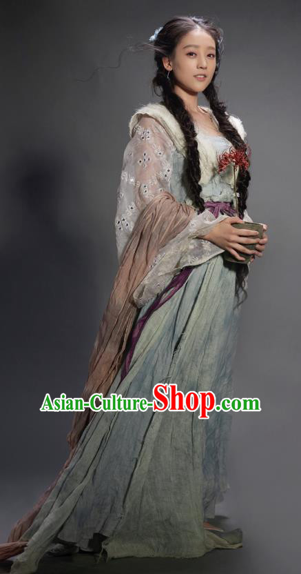 Chinese Ancient Swordswoman Dress Ancient Fairy Replica Costume for Women