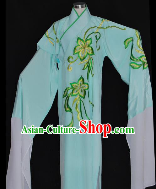 China Traditional Beijing Opera Costume Gifted Scholar Green Robe Chinese Peking Opera Clothing