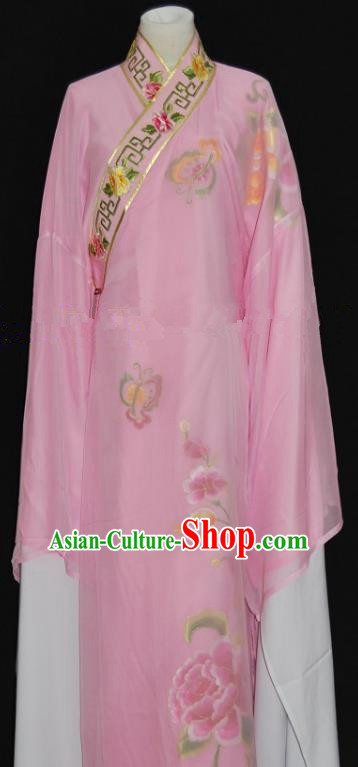 China Traditional Beijing Opera Niche Costume Gifted Scholar Pink Robe Chinese Peking Opera Clothing