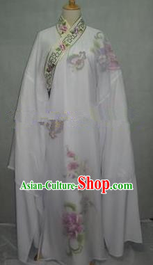 China Traditional Beijing Opera Niche Costume Gifted Scholar White Robe Chinese Peking Opera Clothing