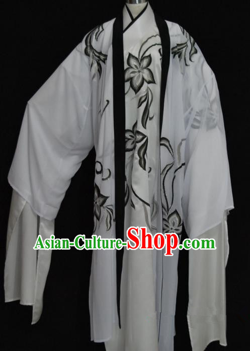 China Traditional Beijing Opera Niche Black Pattern Robe Chinese Peking Opera Gifted Scholar Costume
