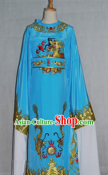 China Traditional Beijing Opera Niche Blue Robe Chinese Peking Opera Number One Scholar Scholar Costume