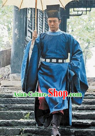 Chinese Song Dynasty Kaifeng Magistrate Bao Zheng Replica Costume for Men