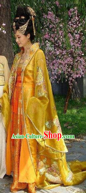Chinese Ancient Western Xia Regime Li Yuanhao Empress Embroidered Dress Queen Replica Costume for Women