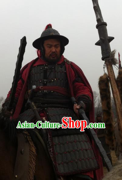 Ancient Chinese Southern Song Dynasty General Niu Gao Replica Costume Helmet and Armour for Men