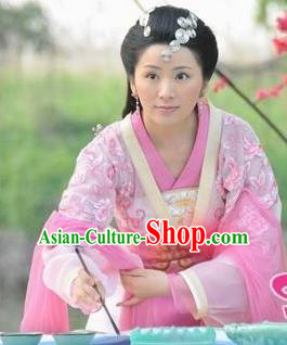 Chinese Ancient Song Dynasty Nobility Lady Dress Embroidered Replica Costume for Women