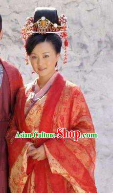 Chinese Ancient Song Dynasty Poet Huang Tingjian Wife Embroidered Replica Costume for Women