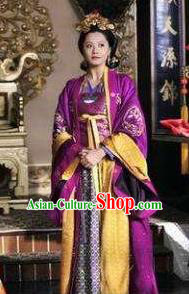 Chinese Ancient Southern Song Dynasty Imperial Consort Han Embroidered Replica Costume for Women