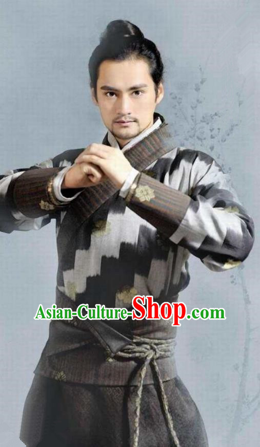 Chinese Ancient Song Dynasty Young General Lin Mufei Replica Costume for Men