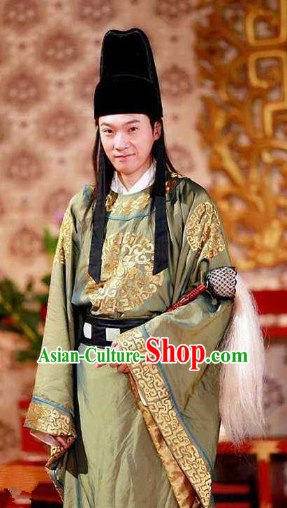 Chinese Ancient Song Dynasty Court Eunuch Replica Costume for Men