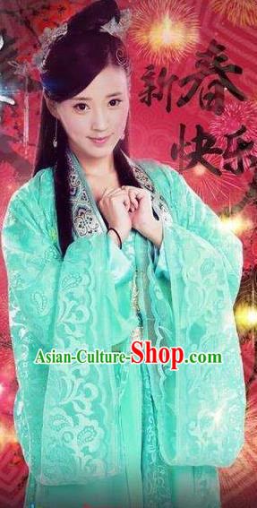 Chinese Ancient Ming Dynasty Royal Princess Embroidered Dress Replica Costume for Women